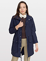 Unisex Cotton-Nylon Blend Long Jacket
