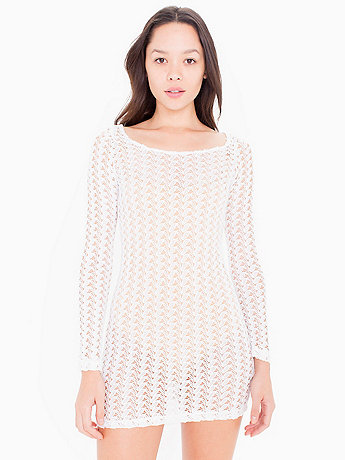 Crochet Long Sleeve Dress