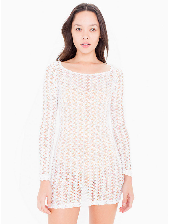 Crochet Long Sleeve Dress
