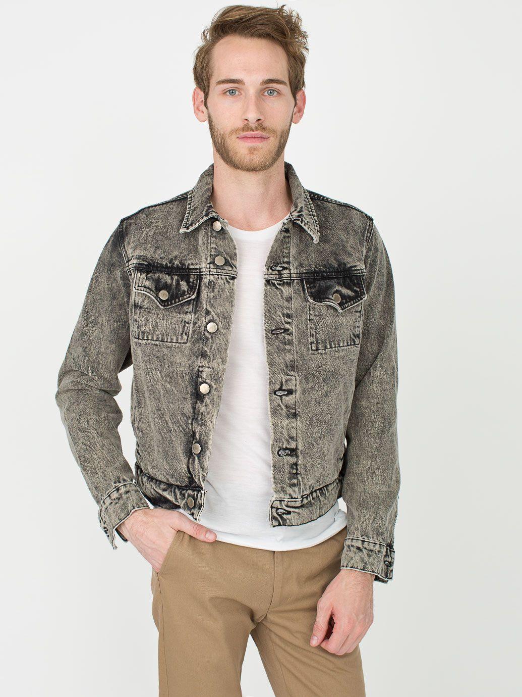 american apparel black denim jacket