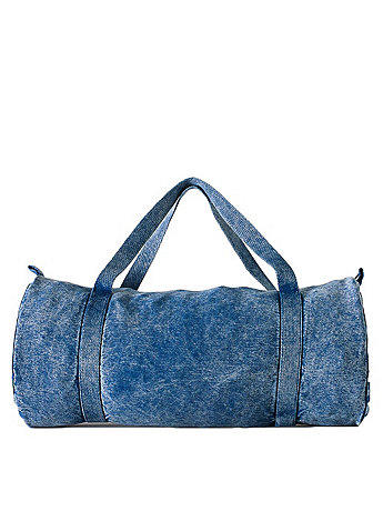 Mineral Wash Natural Denim Gym Bag