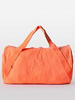 Natural Denim Diagonal Strap Gym Bag
