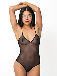 Nylon Spandex Micro-Mesh Bra Bodysuit