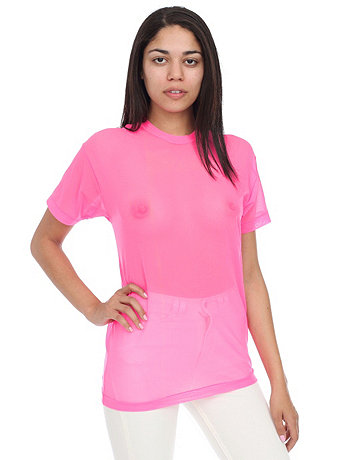 Unisex Oversized Nylon Spandex Micro Mesh T Shirt