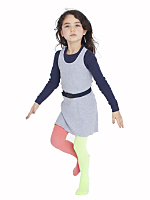 Kids' Opaque Two Color Tight