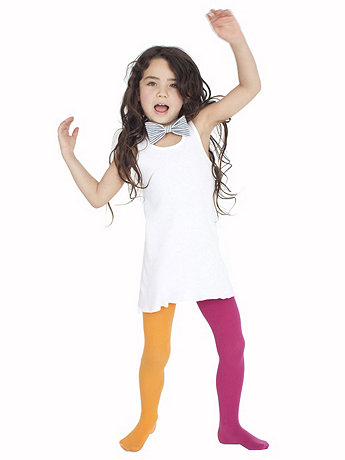 Kids Opaque Two Color Tight