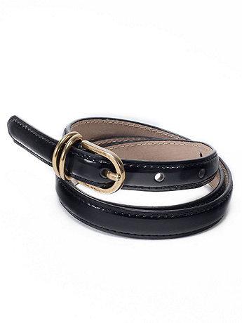 Skinny Patent Belt
