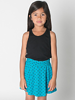 Kids' Polka Dot Cotton Spandex Jersey Wide Waistband Skirt