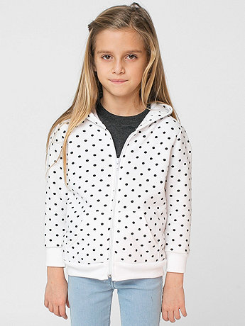 Kids Polka Dot Fleece Zip Hoodie