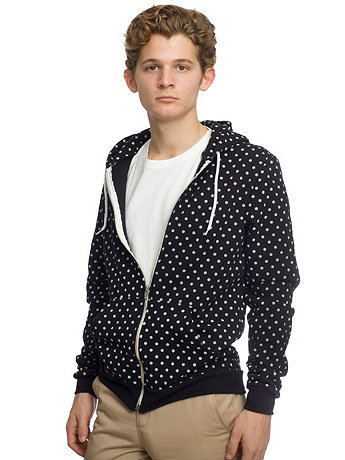 Polka Dot Flex Fleece Zip Hoodie
