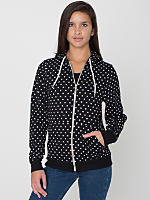 Unisex Polka Dot Flex Fleece Zip Hoodie