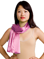 Stripe Satin Charmeuse Scarf