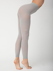 Opaque Footless Pantyhose
