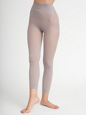 Footless Ribbed Pantyhose