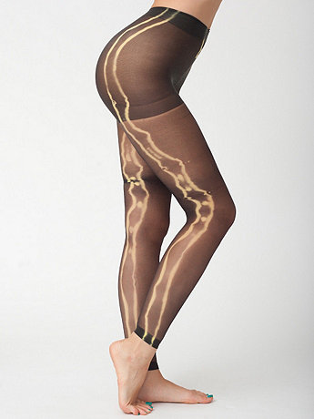 Tie Dye Super Sheer Footless Pantyhose