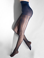 Sheer Luxe Grid Pantyhose
