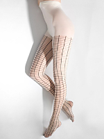 Sheer Luxe Grid Pantyhose