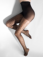 Sheer Luxe Hearts Pantyhose