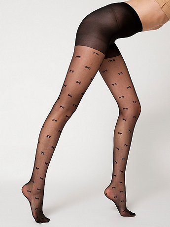 Sheer Luxe Small Bow Shapes Pantyhose