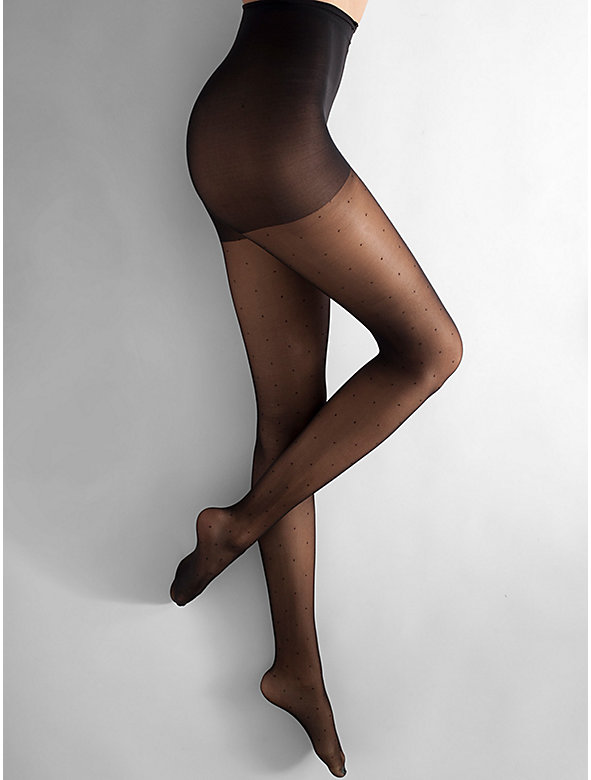 Sheer Luxe Pin Dots Shapes Pantyhose