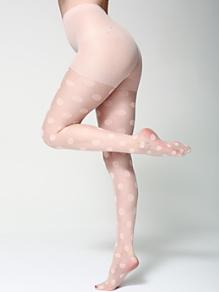 Sheer Luxe Polka Dot Shapes Pantyhose