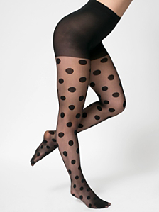Sheer Luxe Polka Dot Shapes Pantyhose