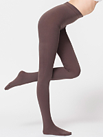 Footed Plush Opaque Pantyhose