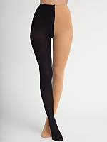 Opaque Two Color Pantyhose