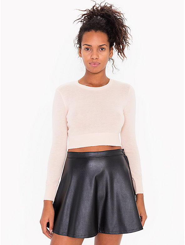 Vegan Leather Circle Skirt