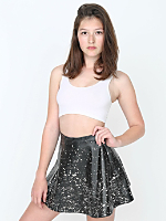 Paint Splatter Vegan Leather Circle Skirt