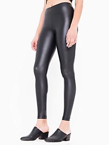 Vegan Leather Zip Legging