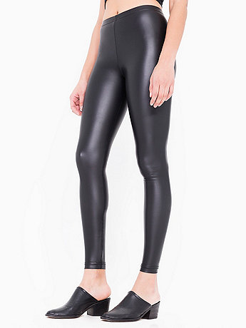 Vegan Leather Zip Legging