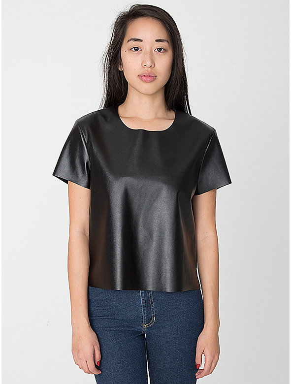Vegan Leather T-Shirt
