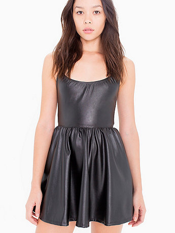 Vegan Leather Figure Skater Dress