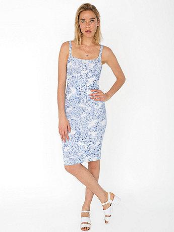 Floral Print Ponte Tank Dress