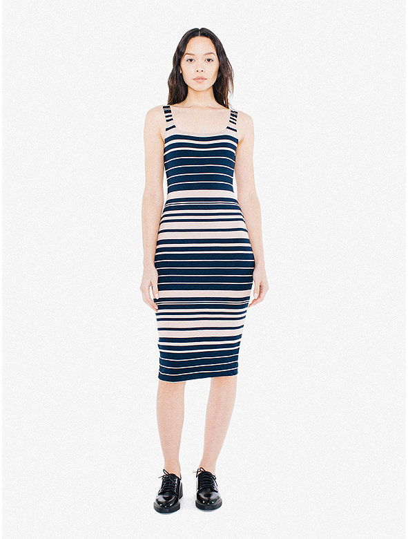 Striped Ponte Tank Dress