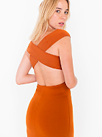 Ponte Off-Shoulder Cross Back Dress