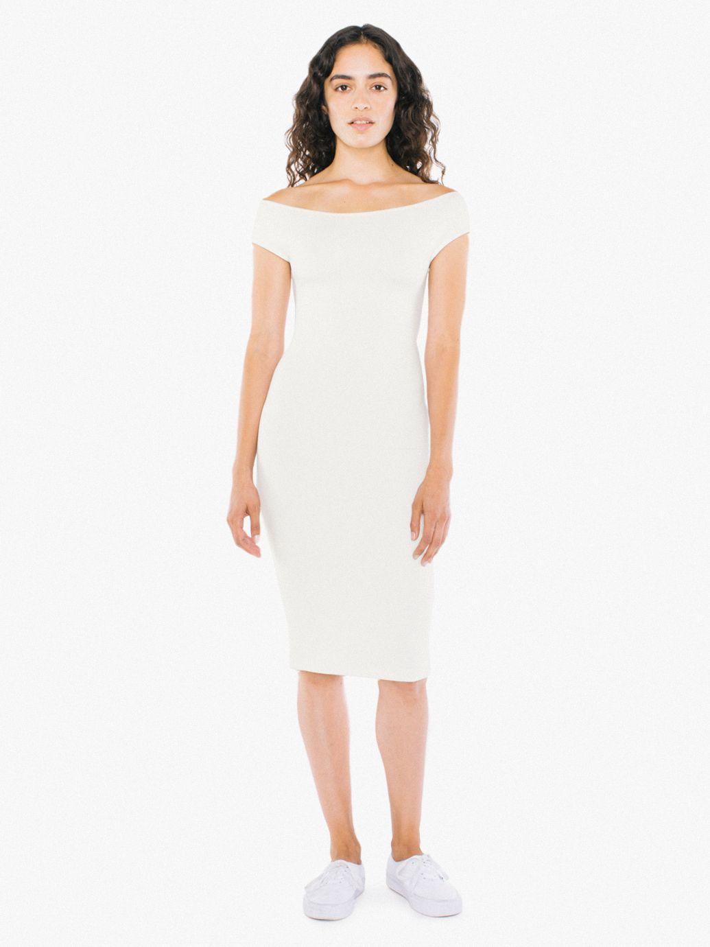 White Tank Midi Bodycon Ponte Dress