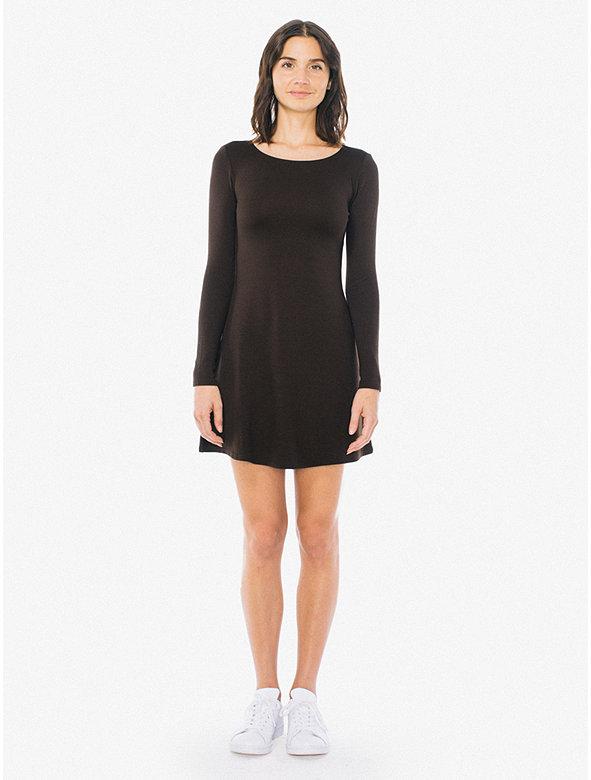 Ponte Long Sleeve Mini Dress