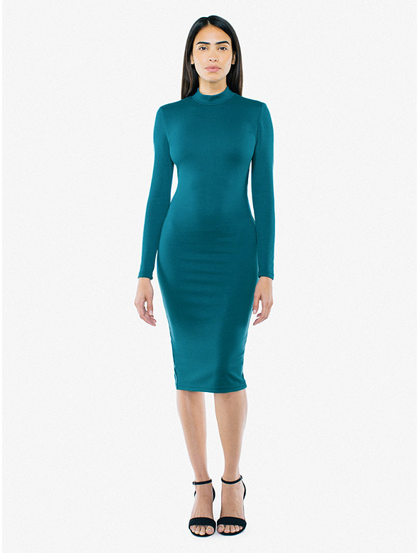 Ponte Long Sleeve Mock Neck Dress