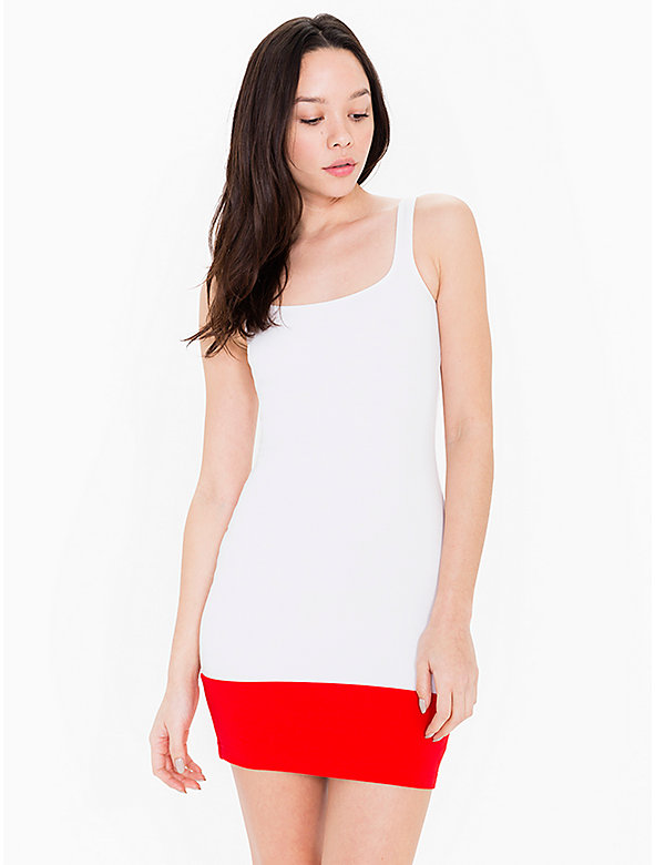 Color Block Ponte Tank Mini Dress