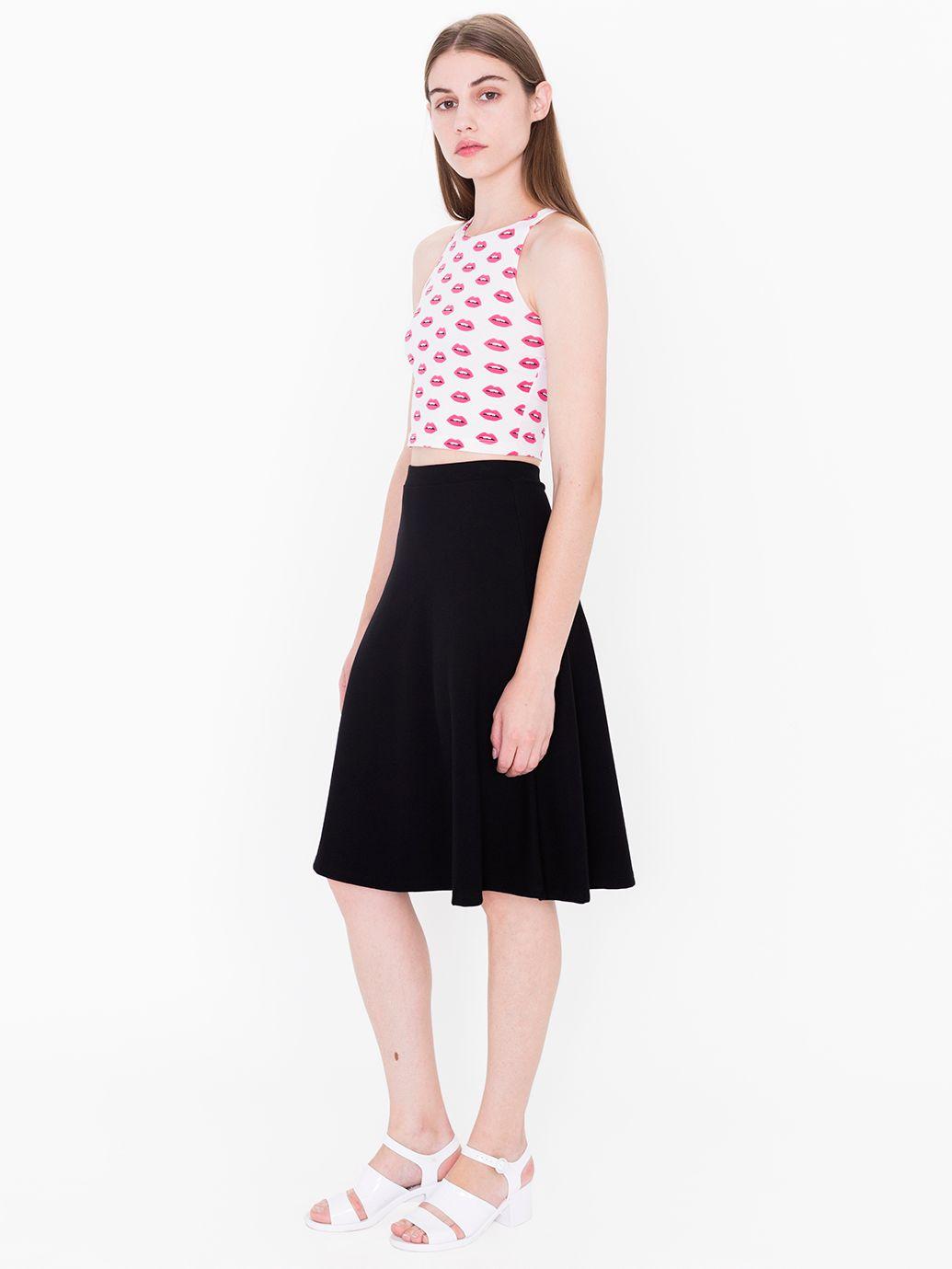 a line knit skirt american apparel