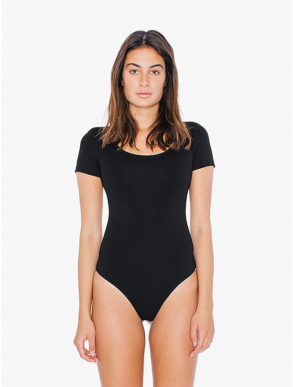 Ponte Short Sleeve U Neck Bodysuit