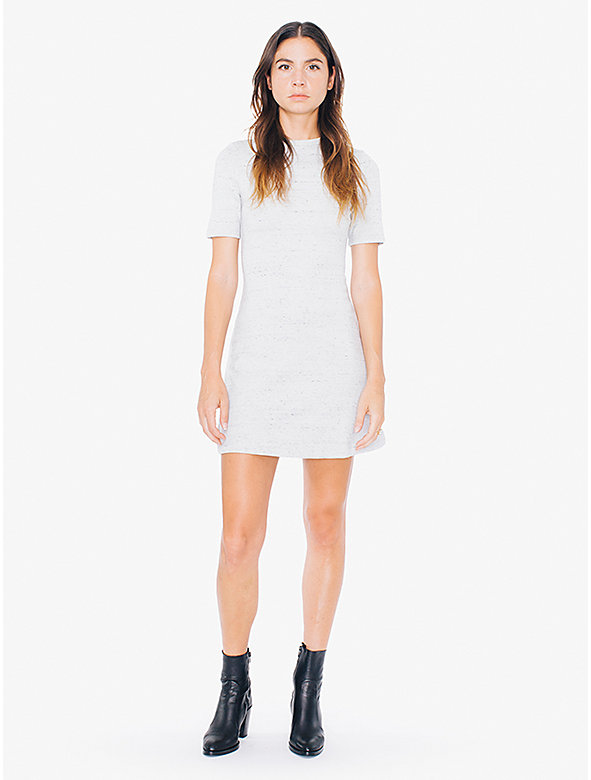 Ponte Crewneck Short Sleeve Mini Dress