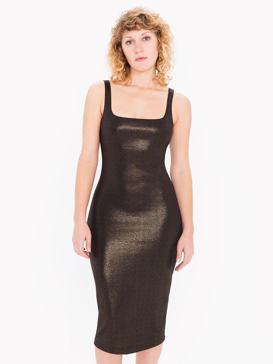 Gold dress american apparel 5398