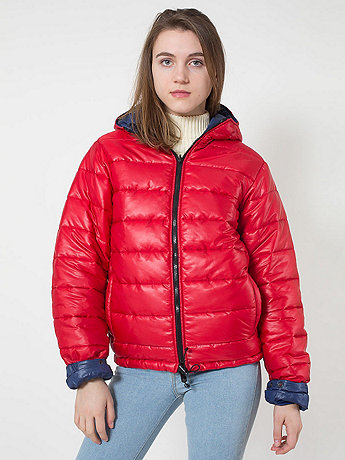 Unisex Reversible Hooded Poly-Fill Jacket