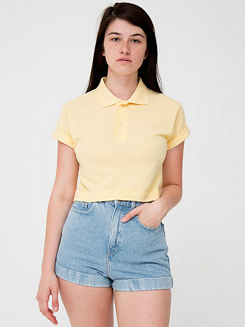 Crop Piqué Tennis Shirt