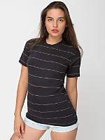 Unisex Pinstripe Jersey Short Sleeve T-Shirt