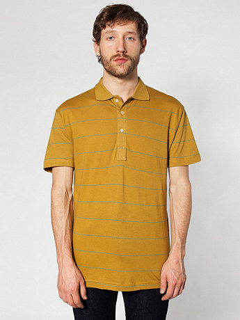 Pinstripe Jersey Tennis Shirt