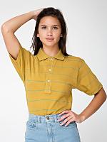Unisex Pinstripe Jersey Tennis Shirt